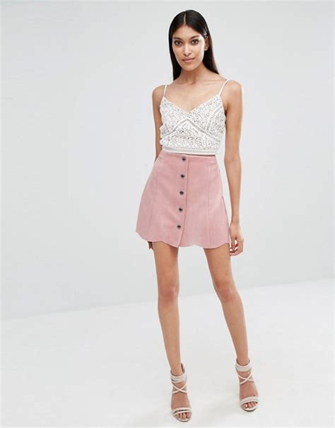 suedette pencil skirt lipsy lipsy lipsy pink mini suedette skirt