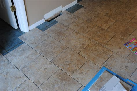Installing Vinyl Floor Tiles Diy Installing Groutable Luxury Vinyl Tile Burger