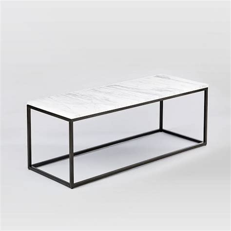 box frame coffee table marble antique bronze west elm
