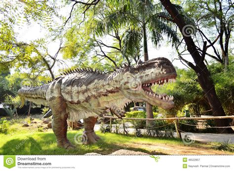 A Place Dino Dinosaur Statue At Indroda Park Gandhinagar Editorial Photography Image 46522857