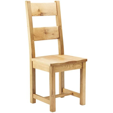 block oak dining chair with wooden seat next day