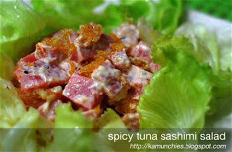 kewpie tuna salad just the munchies spicy tuna sashimi salad