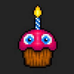 Pixel art fnaf chica s cupcake fnafcupcake chica scupcake cupcake by