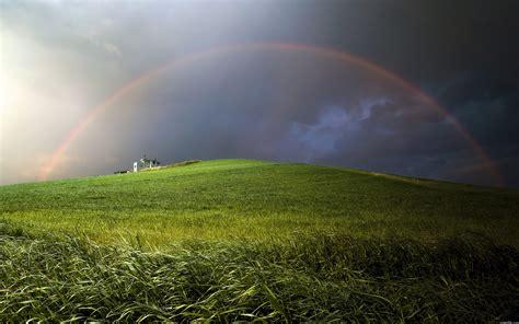 Rainbow Green rainbow green mountain hd desktop wallpapers 4k hd