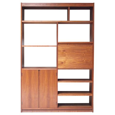 Walnut Bookcase American Modern Walnut Bookcase At 1stdibs