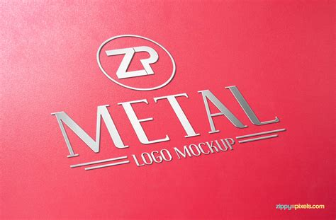 metal engraved mockup essential free logo mockup collection zippypixels