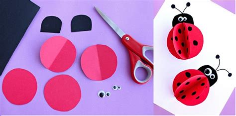 child craft ideas ladybug crafts idea for preschool and kindergarten