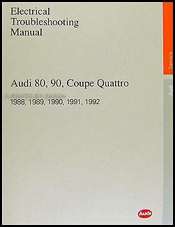motor repair manual 1988 audi 80 90 free book repair manuals 1988 1992 audi 80 and 90 electrical troubleshooting manual