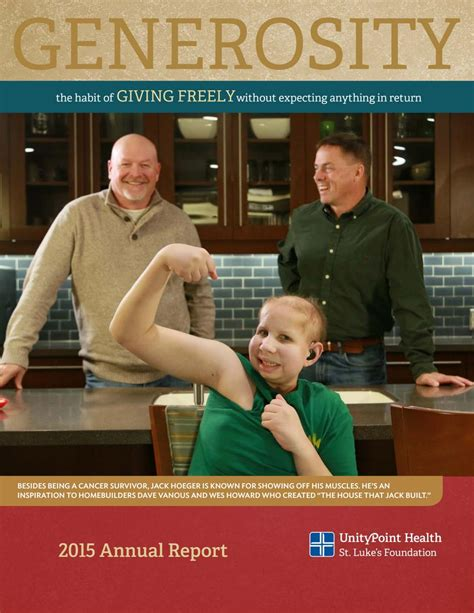 andrew herbert roofing unitypoint health st luke s foundation 2015 annual report