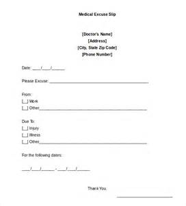 doctors note template 9 free sle exles format