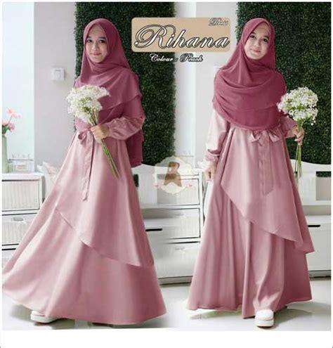Gamis Maxi Overall Kancing Rok Kodok Dress Soft Denim jual baju warna jual baju muslim wanita ukuran besar