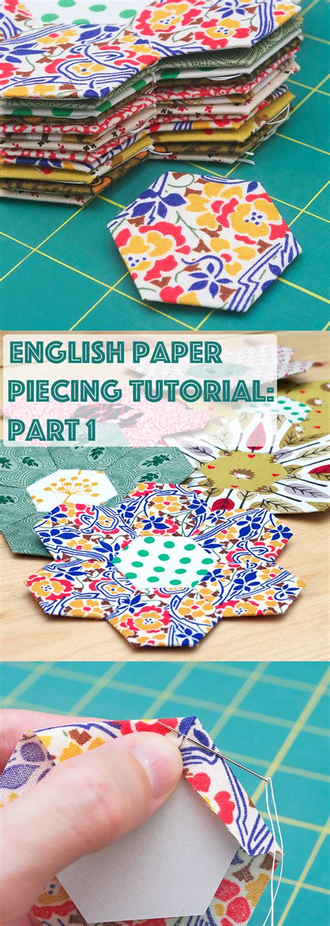 video tutorial in english tutorial english paper piecing hexies part 1 red