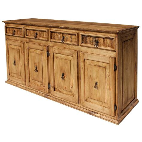 Rustic Sideboards rustic pine collection xl classic sideboard com06