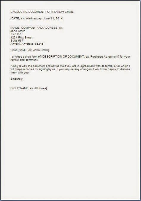 document review cover letter