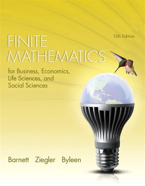 finite mathematics for business economics sciences and social sciences 14th edition books barnett ziegler byleen finite mathematics for business