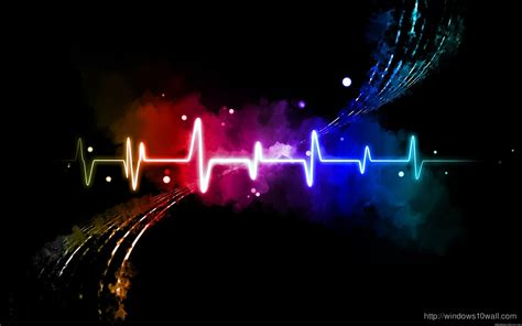 colorful abstract soundwave hd wallpaper windows