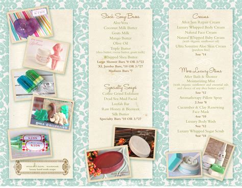 How To Make A Handmade Brochure - soap tri fold brochure picture it graphics