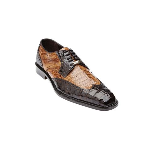 belvedere shoes belvedere venice crocodile wing tip shoes brown camel