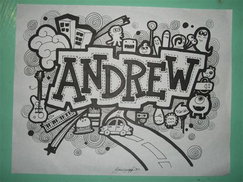 how to draw a doodle names doodle andrew by sarahrejinah on deviantart