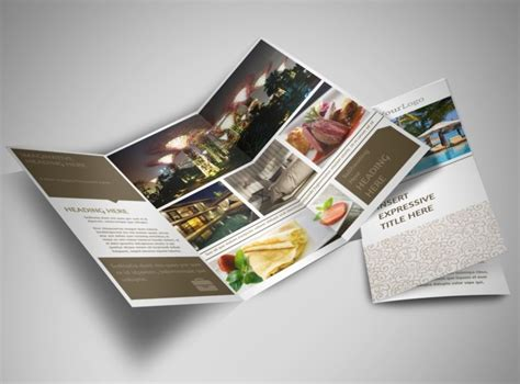 luxury brochure template luxury hotels tri fold brochure template