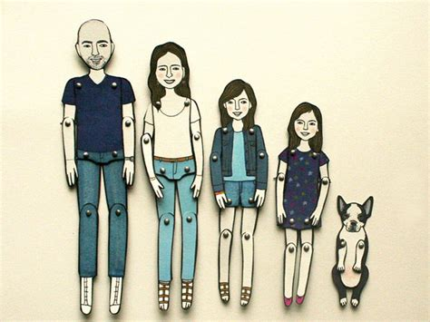 How To Make A Paper Doll - keepsake personalized paper dolls make an original family