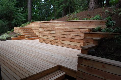Landscape Timbers Seattle Timber Walls And Steps