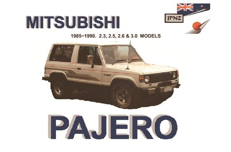 service manual pdf 1985 mitsubishi pajero engine repair manuals mitsubishi pajero workshop