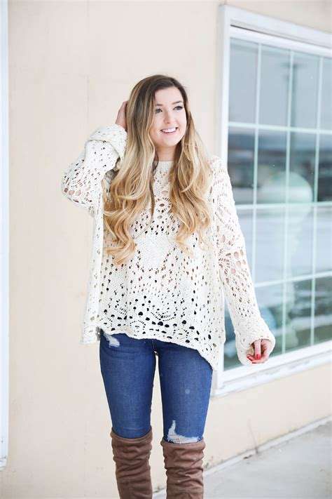 Sweater Fourspeed cutest crochet sweater ootd daily dose of charm