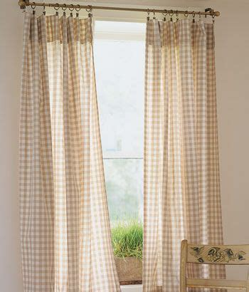 Cabin Check Rod Pocket Curtains Home Dec Pinterest