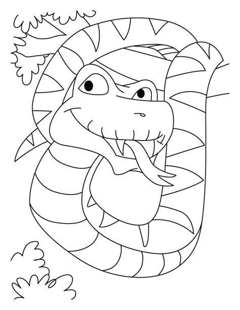 free coloring page of a snake coloring pages of snakes az coloring pages