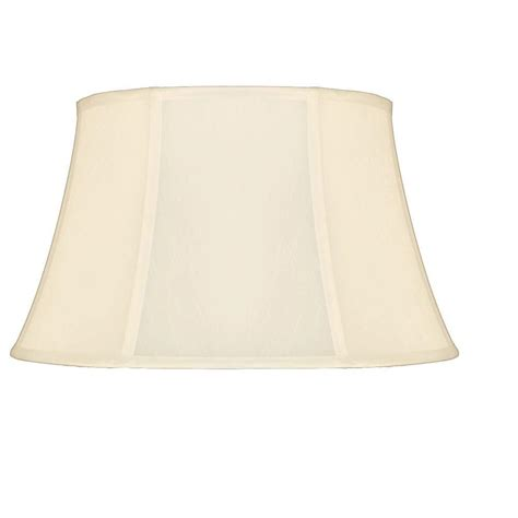 cal lighting 12 in white bell stretched faux silk shade sh 1068 the home depot