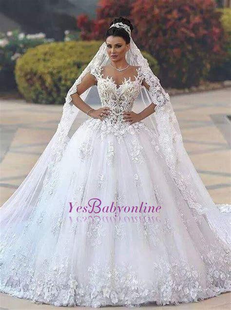 Wedding Lace Sleeveless Dress luxurious lace sleeveless appliques princess wedding dress