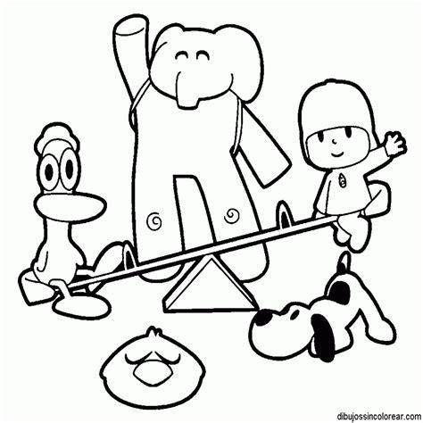 dibujos para pintar y colorear para nios 84 loa amigos de pocoyo dibujos para colorear nios
