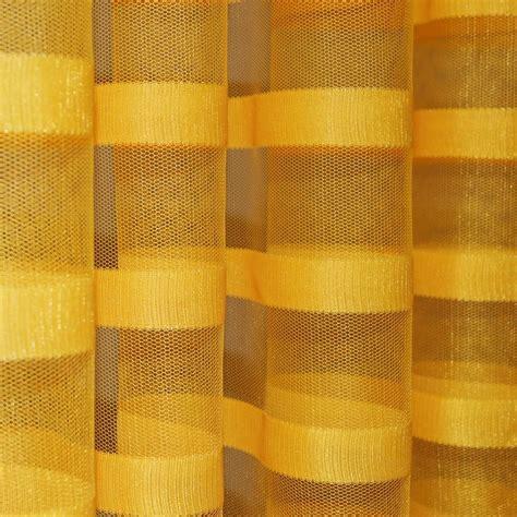net curtain material uk q210 gold yellow w stripe pattern soft mesh net fabric