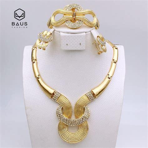 2017 new design quality parure bijoux femme plaque or bijoux africain ensemble