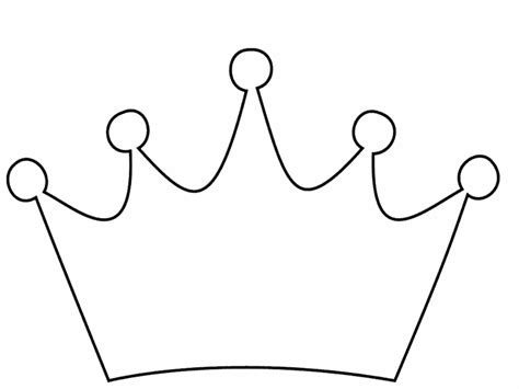 Crown Coloring Pages crown pictures to colour clipart best