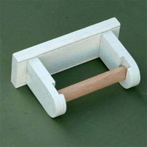 toilet roll holder wooden wall mounted arch back simple painted toilet roll holder
