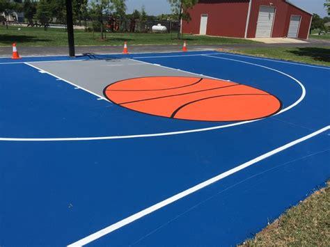 backyard court surfaces backyard basketball court sport surfacing modern garden oklahoma city by