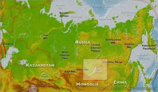 map of russia with cities rivers and mountains lake baikal map