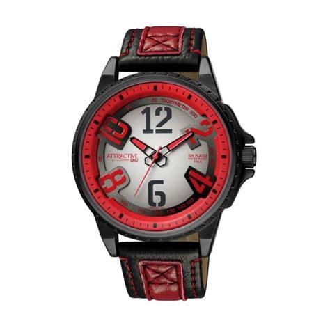 q q da66j505y analog for jual q q attractive jam tangan pria hitam merah