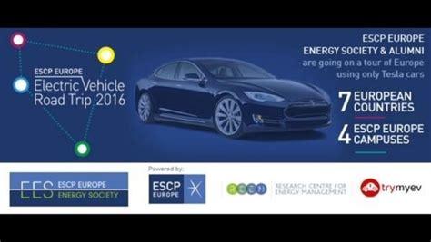 tesla road vehicle escp europe electric vehicle road trip in tesla model s