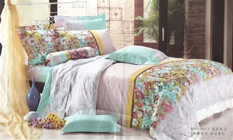 Set Bed Cover Katun Motif Bunga bed cover set bunga hijau uk 100 t 25cm warungsprei