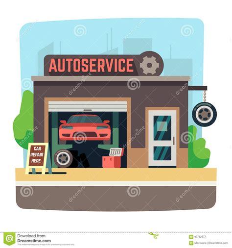 auto mobile de car repair mechanic shop with automobile inside auto