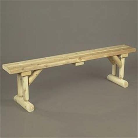 rustic cedar log style wood garden bench reviews wayfair 6 log style dining bench outdoorfurnitureplus com