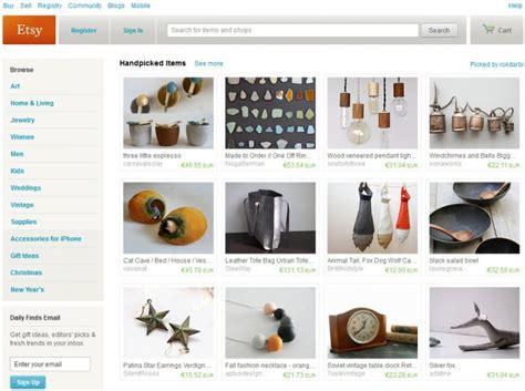 Handmade Goods Website - etsy the ebay for handmade goods ghacks tech news