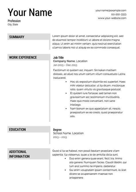 Resume Template Free To Free Resume Template Doliquid