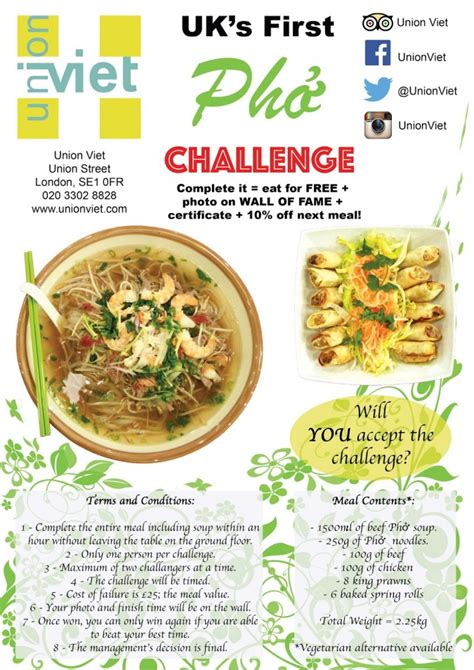 challenges of union union viet s pho challenge foodchallenges