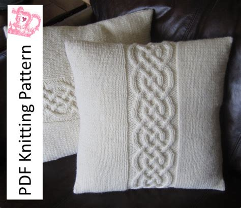 Knitting Pillow Patterns - cable knit pillow cover pattern knit pattern pdf celtic knot
