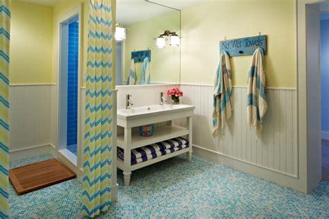 yellow and blue bathroom blue mosaic tile floor cottage bathroom robyn karp