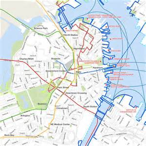 Map Of Downtown Boston by Similiar Map Of Downtown Boston Area Keywords
